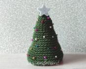 albero di natale ad uncinetto facile con perline